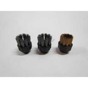 Kit 3 petites brosses métalliques rondes - 2 cm